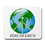 Peace Peas on Earth Christmas Mousepad