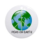 Peace Peas on Earth Christmas Ornament (Round)