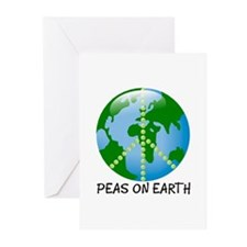 Peace Peas on Earth Christmas Greeting Cards (Pack