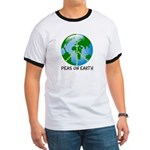 Peace Peas on Earth Christmas Ringer T