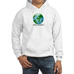 Peace Peas on Earth Christmas Hooded Sweatshirt