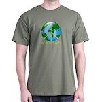Peace Peas on Earth Christmas Dark T-Shirt