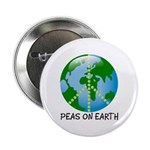 Peace Peas on Earth Christmas Button