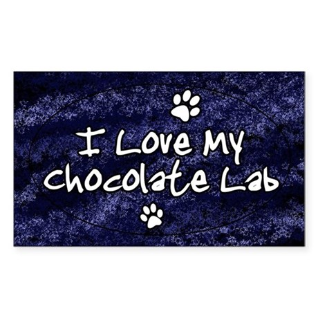 choclab_funklove_oval Sticker (Rectangle)