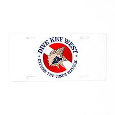 Dive Key West (rd) Aluminum License Plate