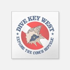 Dive Key West (rd) Sticker