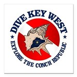 Dive Key West (rd) Square Car Magnet 3