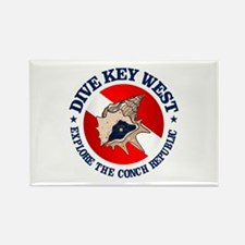 Dive Key West (rd) Rectangle Magnet