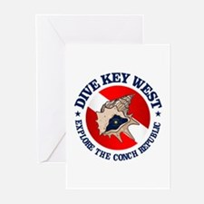 Dive Key West (rd) Greeting Cards (Pk of 10)