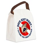Dive Key West (rd) Canvas Lunch Bag