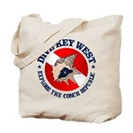 Dive Key West (rd) Tote Bag