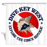 Dive Key West (rd) Shower Curtain