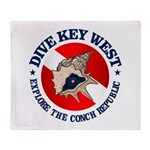 Dive Key West (rd) Throw Blanket