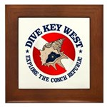 Dive Key West (rd) Framed Tile