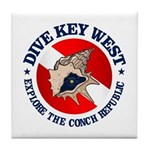 Dive Key West (rd) Tile Coaster