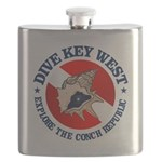 Dive Key West (rd) Flask