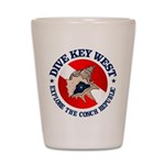 Dive Key West (rd) Shot Glass