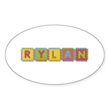 Rylan Foam Squares Oval Decal