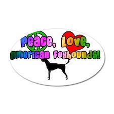 americanfoxhound_hippiemug Wall Decal