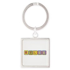 Rylee Foam Squares Square Keychain