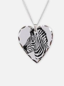 Zebra bust Necklace