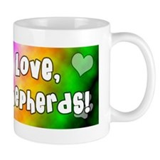 hippie_germanshepherd Small Mug