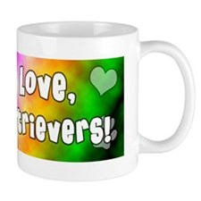 hippie_goldenretriever Small Mug