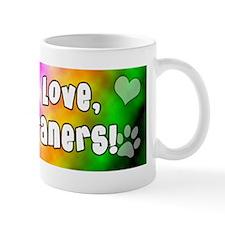 hippie_weimaraner Small Mug