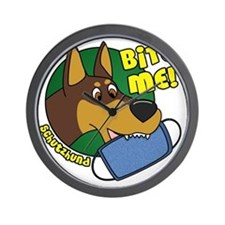 dobermanbite Wall Clock