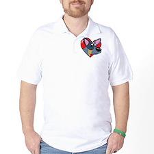 heartblueheeler_blk T-Shirt
