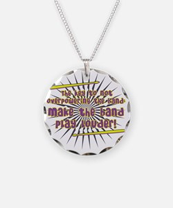 overpowerband_blk Necklace Circle Charm