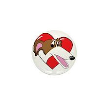 heartborzoi_blk Mini Button