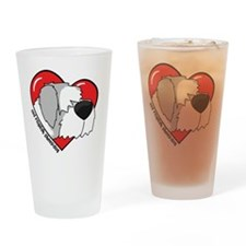 heartoldenglish_oval Drinking Glass