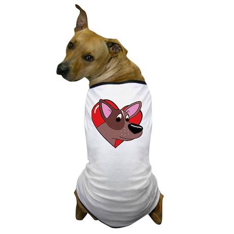 heartredheeler_blk Dog T-Shirt