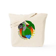 cartoon_greencheek_blk Tote Bag