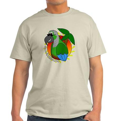 cartoon_greencheek_blk Light T-Shirt