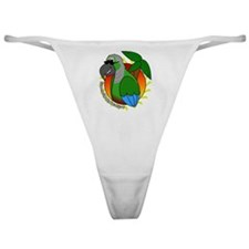 cartoon_greencheek_blk Classic Thong