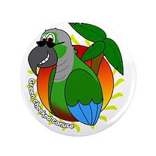 """cartoon_greencheek_blk 3.5"""" Button"""