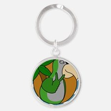 cartoon_quaker Round Keychain