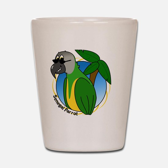 cartoon_senegal Shot Glass
