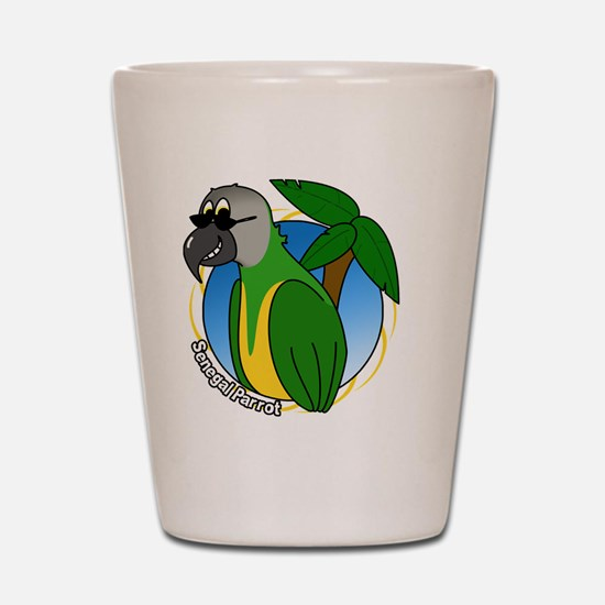 cartoon_senegal_blk Shot Glass