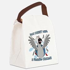 congo_polly_blk Canvas Lunch Bag