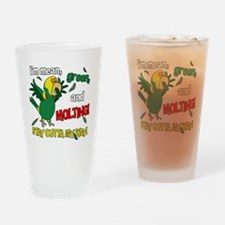 dyhamazon_molting_blk Drinking Glass