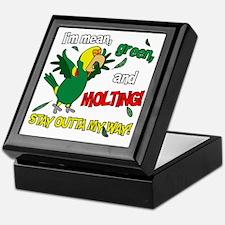 dyhamazon_molting_blk Keepsake Box