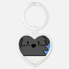 anime_affenpinscher_blk Heart Keychain