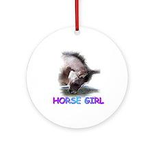 Horse Girll colt Ornament (Round)