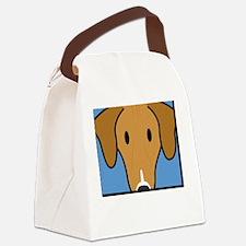 anime_azawakh_blk Canvas Lunch Bag