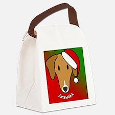 anime_azawakh_ornament Canvas Lunch Bag