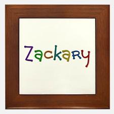 Zackary Play Clay Framed Tile