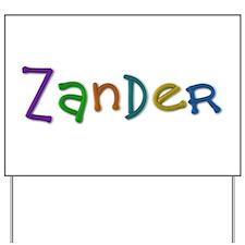 Zander Play Clay Yard Sign